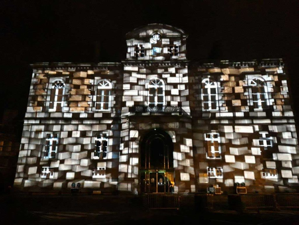 Mapping vidéo, mairie d'Avranches